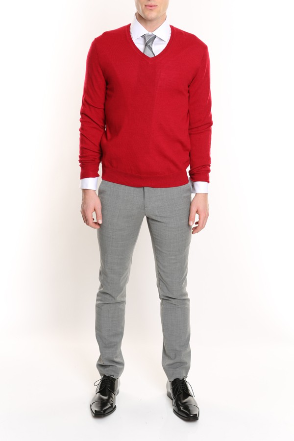 Merino V-neck Pullover Sweater